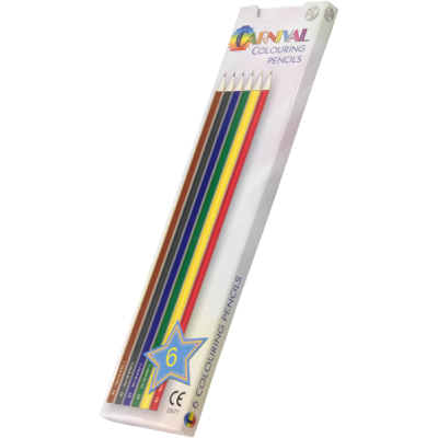 Carnival Colouring Pencils Full Size 6 Pack